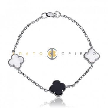 Срібний браслет «Вишукана елегантність»