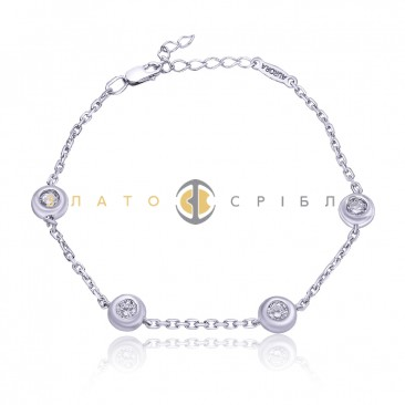 Срібний браслет «Крапельки дощу»
