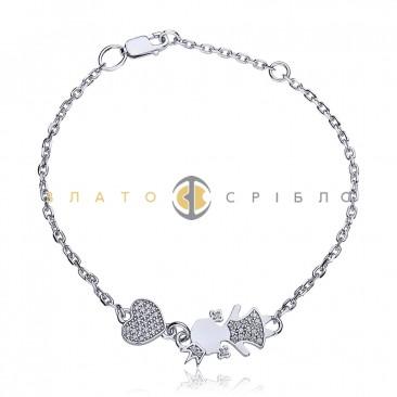 Серебряный браслет «Моя маленькая королева»