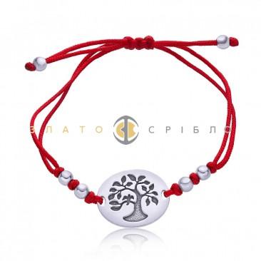Срібний браслет «Магія природи»