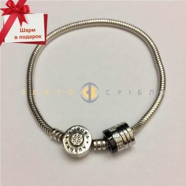 Серебряный браслет «Aurora» для шармов + подарок
