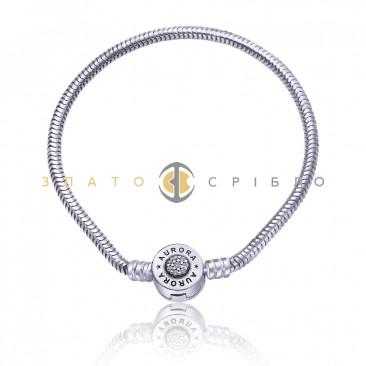 Срібний браслет «Aurora» для шармів