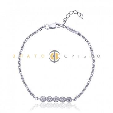 Срібний браслет «Зоряна доріжка»