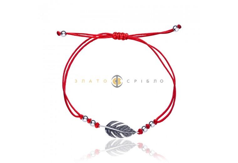 Серебряный браслет «Перышко»