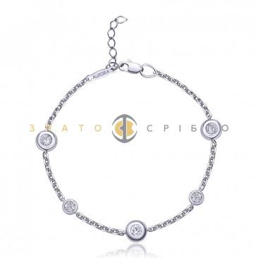 Срібний браслет «Кристалічний блиск»