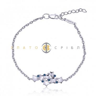 Срібний браслет «Зоряний шлях»