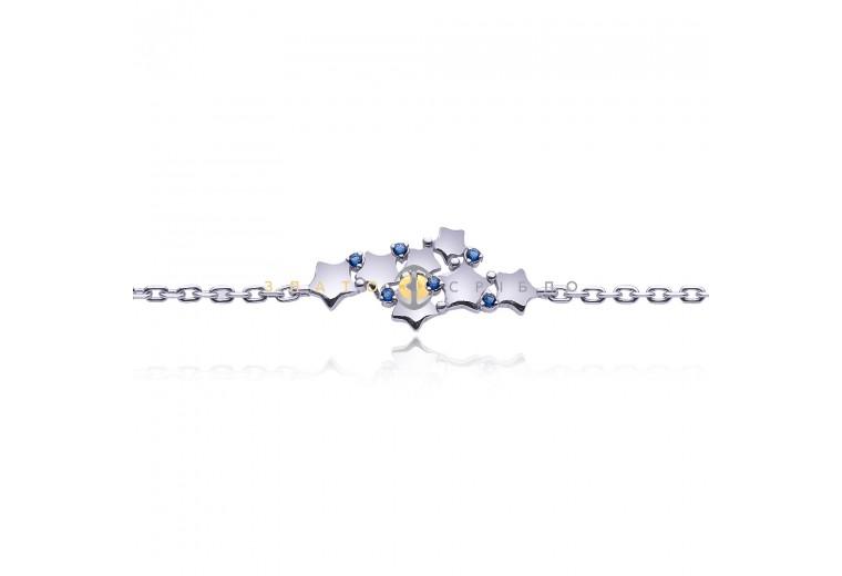 Серебряный браслет «Звездный путь»