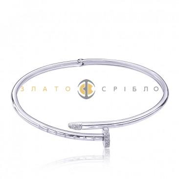 Серебряный браслет «Гвоздь»