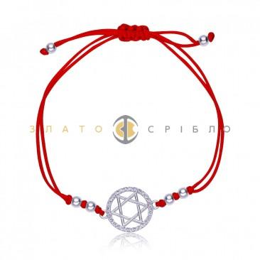 Серебряный браслет «Звезда Соломона»