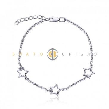 Срібний браслет «Зірки всесвіту»