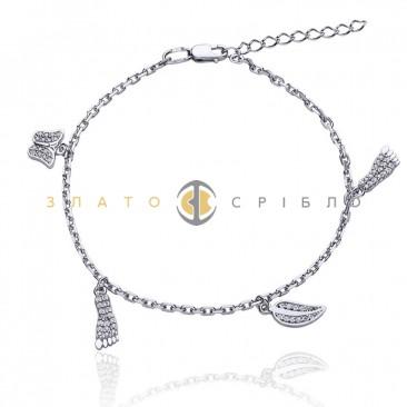 Серебряный браслет «Моменты счастья»