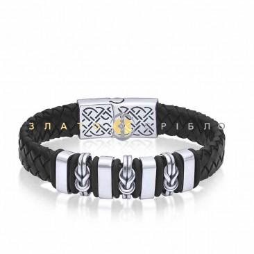 Серебряный браслет «Мужская элегантность»