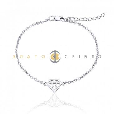 Серебряный браслет «Бриллиант»