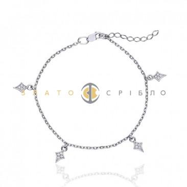 Серебряный браслет «Легкий флирт»