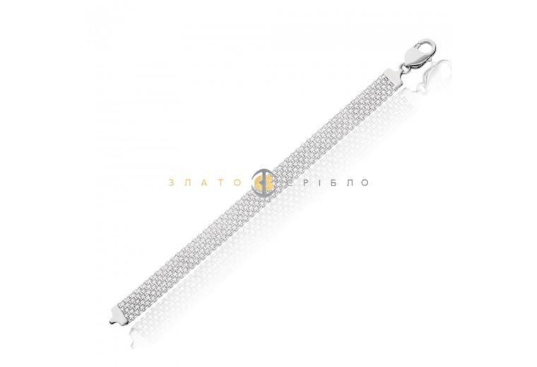 Срібний браслет «Бісмарк якірний»