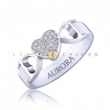 Серебряное кольцо «Жозефина» с белой керамикой