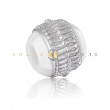 Серебряный шарм «Римини» с белой керамикой