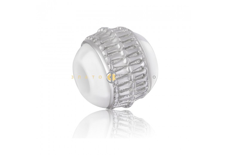 Срібний шарм «Ріміні» з білою керамікою
