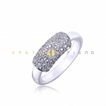Серебряное кольцо «Саманта» с белой керамикой