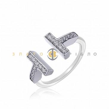 Серебряное кольцо «Джемма» с белой керамикой