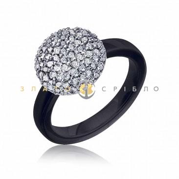 Срібна каблучка «Джемма» з чорною керамікою в интернет-магазине ... 0779833f8b43d