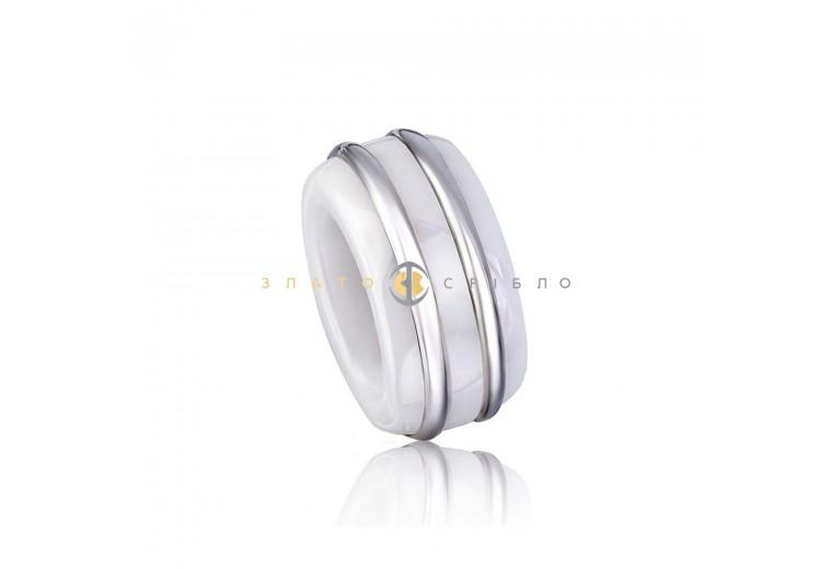 Серебряный шарм «Луар» с белой керамикой