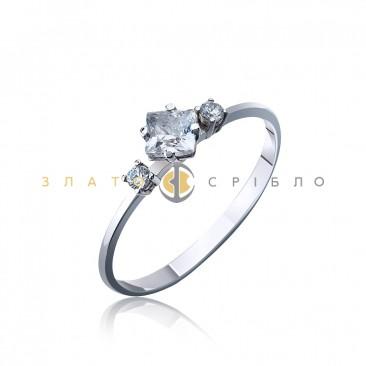 Серебряное кольцо «Кристалл»