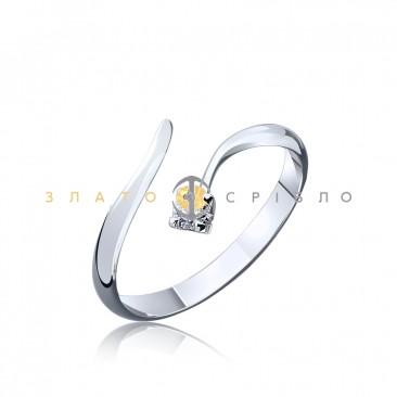 Серебряное кольцо «Яркая индивидуальность» с фианитом