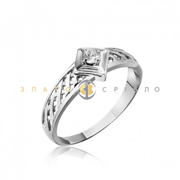 Серебряное кольцо «Оливия» с фианитом