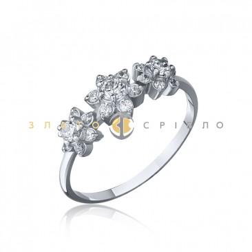 Серебряное кольцо «Веночек»