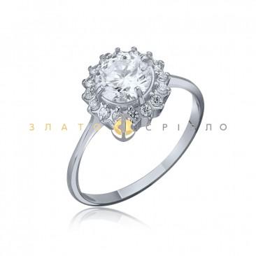 Серебряное кольцо «София» с фианитами