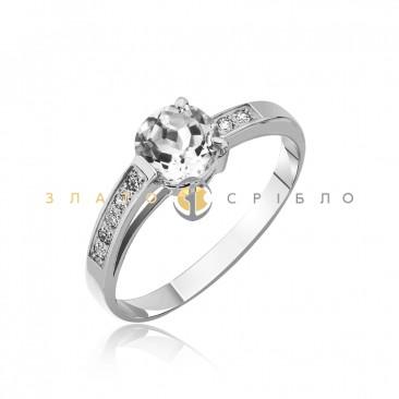 Серебряное кольцо «Нежность» с фианитами