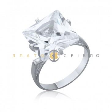 Серебряное кольцо «Желанная» с фианитом