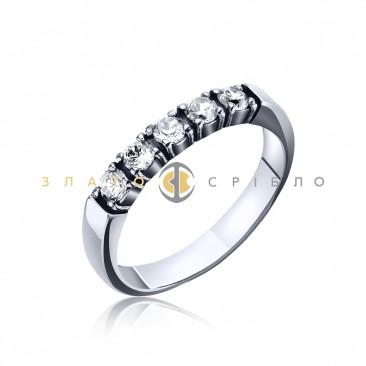 Серебряное кольцо «Дорида» с фианитами