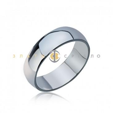 Серебряное кольцо «Обручальное традиционное» без вставок