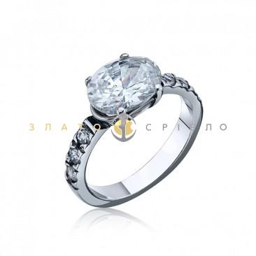 Серебряное кольцо «Адажио» с фианитами