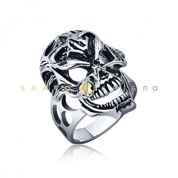 Серебряное кольцо «Череп»