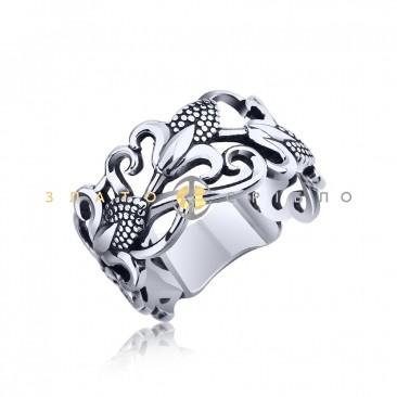 Серебряное кольцо «Запах лилии»