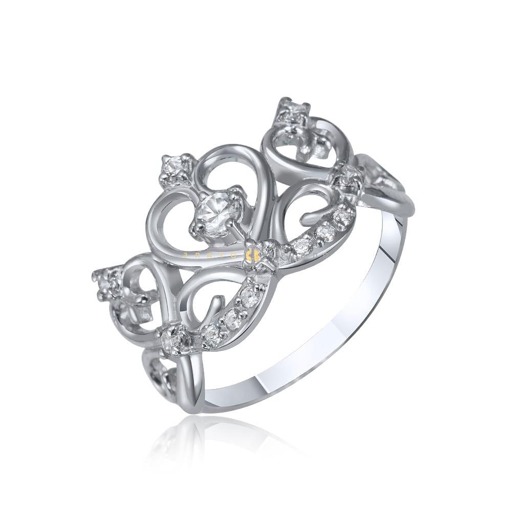Срібна каблучка «Королева» в интернет-магазине «ЗлатоСрібло» 32dfa1002df60