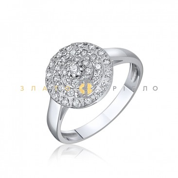 Серебряное кольцо c фианитами
