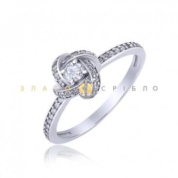 Серебряное кольцо «Rose»
