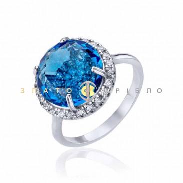 Серебряное кольцо «Космическое сияние» с фианитами