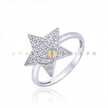 Серебряное кольцо «Небесная звезда» с фианитами