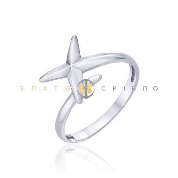 Серебряное кольцо «Мой космос» без вставок