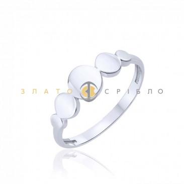 Серебряное кольцо «Музыка сфер» без вставок