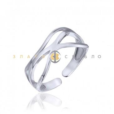 Серебряное кольцо «Касание» без вставок