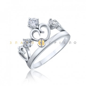 Серебряное кольцо «Царица»