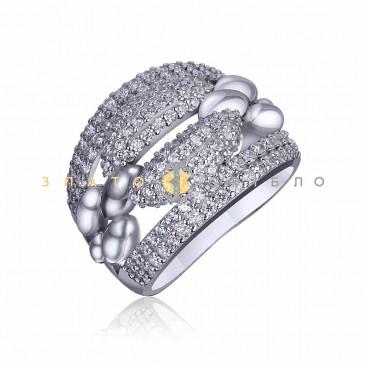 Серебряное кольцо «Анаит» c фианитами