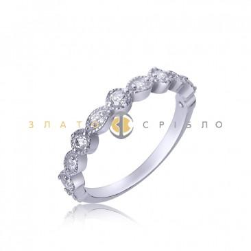 Серебряное кольцо «Лунная дорожка»