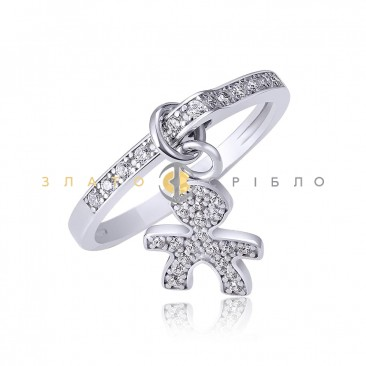 Серебряное кольцо «Мальчик»